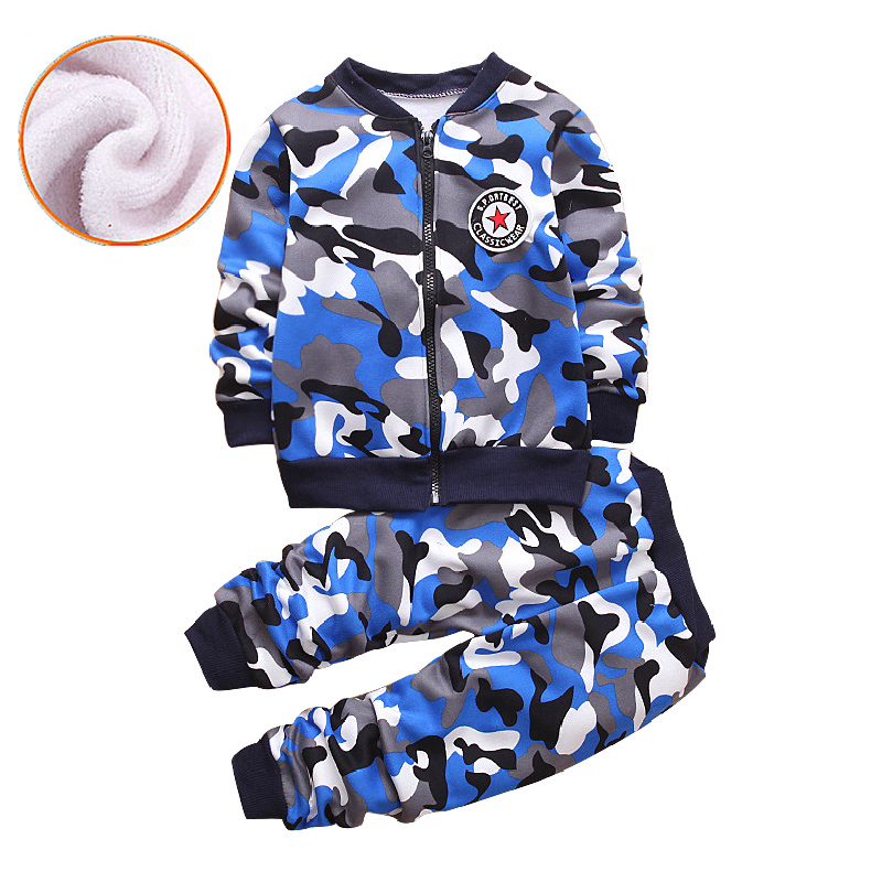 2018 New Hot Spring Autumn Winter Baby Boys Girls Clothes Infant Camouflage Zip Sweater+Pants 2pcs Kids Sport Suit Clothing Sets