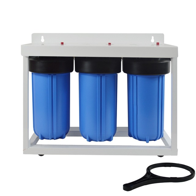 3 stage big blue whole house water filtration system with 10 - Whole House Water Filtration System