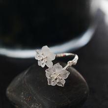 L & p Элегантные кольца с натуральным кристаллом и цветком чистое
