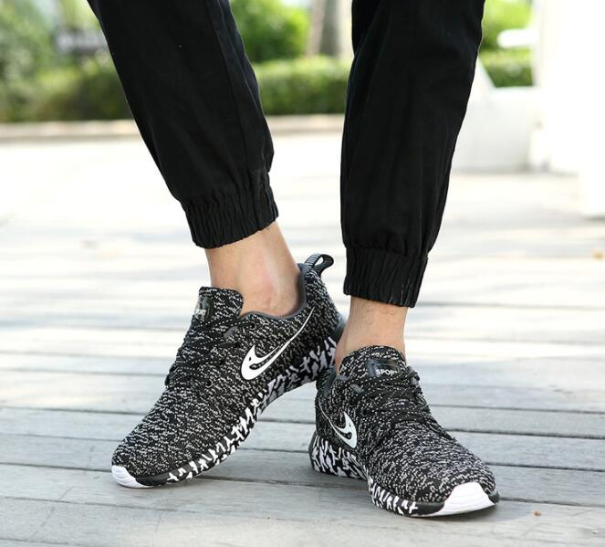 SunNY Everest 2018 new men casual shoes stretch fabric slip on knit material plus size 12 13 14 light sole no skid 35 47