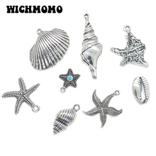 2019 New Fashion Retro Zinc Alloy Silver Shell and Conch Series Charms Pendants for DIY Earring Pendant Jewelry Accessories