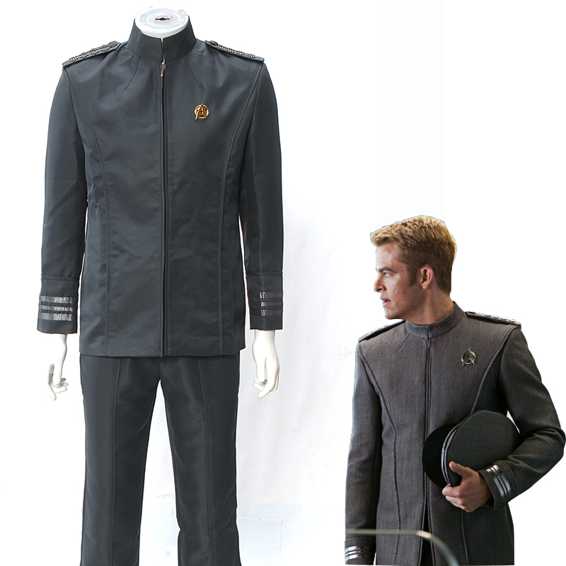 Star Trek Costume Into Darkness Captain Kirk Spock Cosplay Grey Uniform outfit