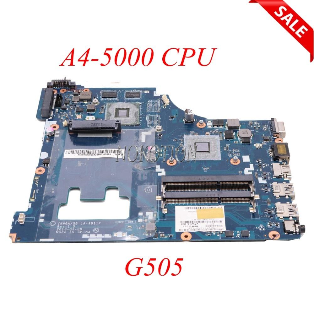 NOKOTION VAWGA GB LA-9911P Laptop motherboard For lenovo ideapad G505 15.6 inch HD8570M AM5000 main board full tested
