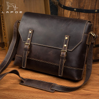 LAPOE Vintage Real Genuine Leather Bag Mens Big Designer Handbags High Quality 2016 Tote Bag Men Messenger Bag men leather
