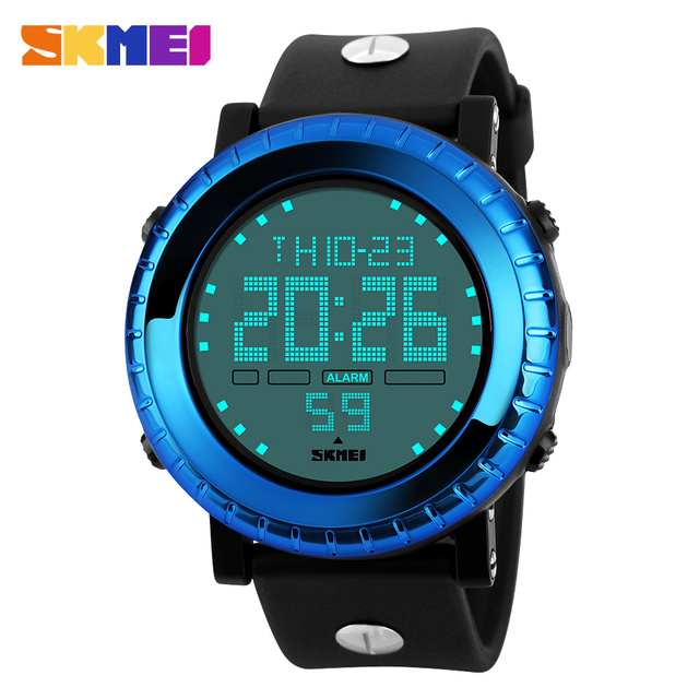 SKMEI Marca Reloj Digital Resistente Al Agua Deporte Al Aire Libre Relojes LED Cronógrafo 12/24 Modo de Alarma Reloj de Pulsera Para Hombres de Alta Calidad