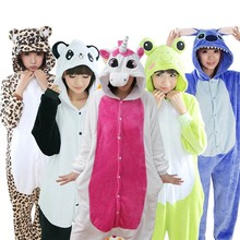 Kigurumi Stitch Women Pajamas Sets Winter Animal Unicorn Pajamas Women Cartoon Panda Dinosaur Pokemon Cosplay Onesies Sleepwear(China)