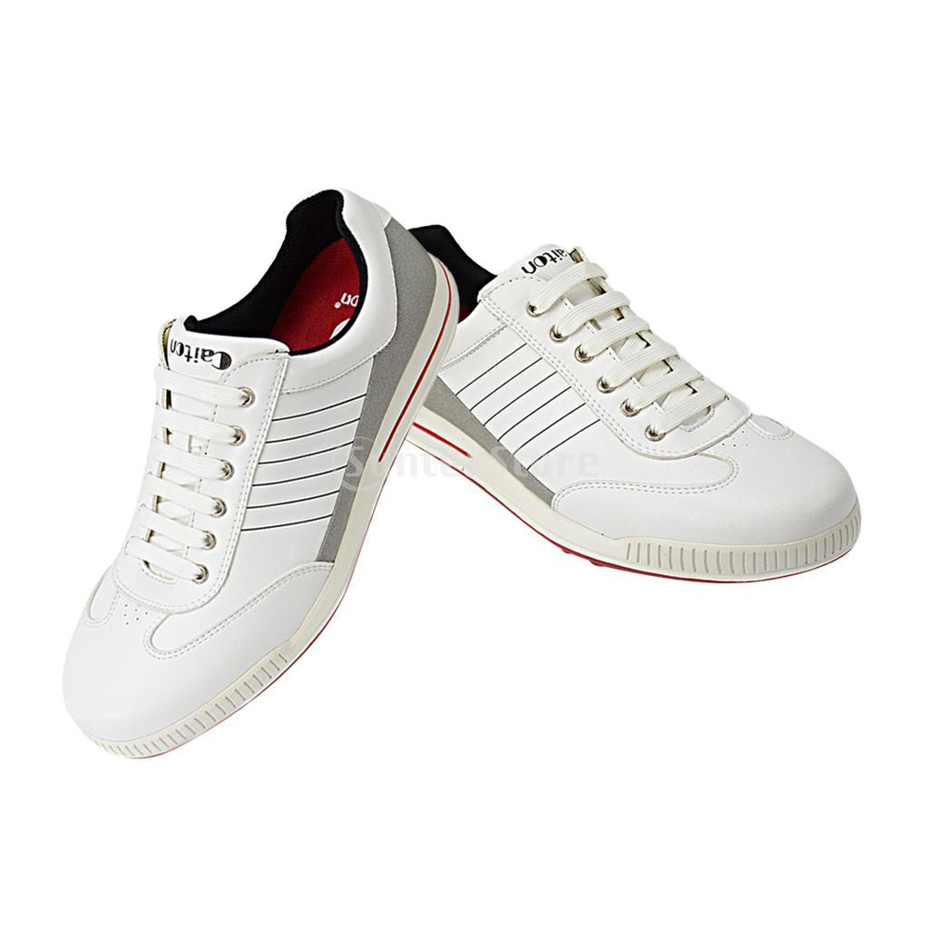 где купить Non-slip Breathable Men's Golf Shoes, Anti-collision Waterproof Lightweight White Sports Shoes, Size EU39-44 по лучшей цене