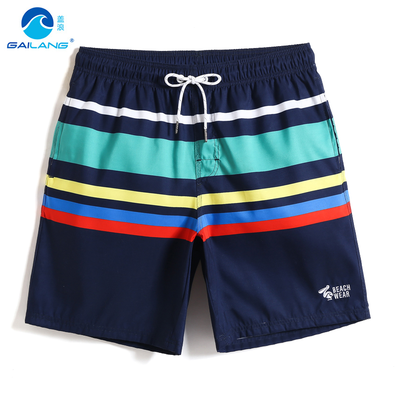 2019 Men's Swimming trunks Quick dry surfing   Board     shorts   liner sport de bain printed sexy swimwear briefs mesh