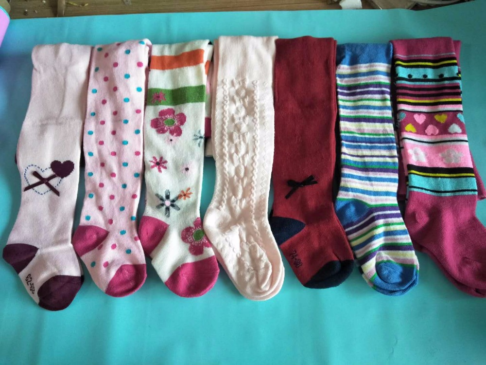 5pcs/lot Baby Pantyhose Stockings Children's Tights For Boys Girls Dance Tights Leg Warmer 6-36m Lots Random Patterns