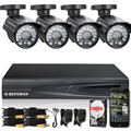 DEFEWAY HD 1080N 4 Channel CCTV System Video Surveillance DVR KIT 4PCS 1200TVL Home Security 4 CH Camera System+2000G HDD