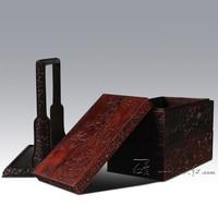 Redwood стороны корзины Китай классический ретро антикварная мебель воспроизводства Аннато Еда несущей палисандр резьба ремесел хранения кеп