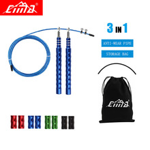 Professional Jump Ropes Crossfit Metal Steel Thread Handle Bearing Skip Rope For Gym Fitness Sports Speed Training
