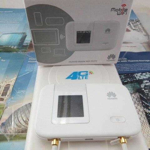 Разблокирована HUAWEI E5372 E5372s-32 4G LTE Cat4 Карманный wi-fi маршрутизатор + 4 Г 49DBI LTE mimo панельная направленная антенна TS9