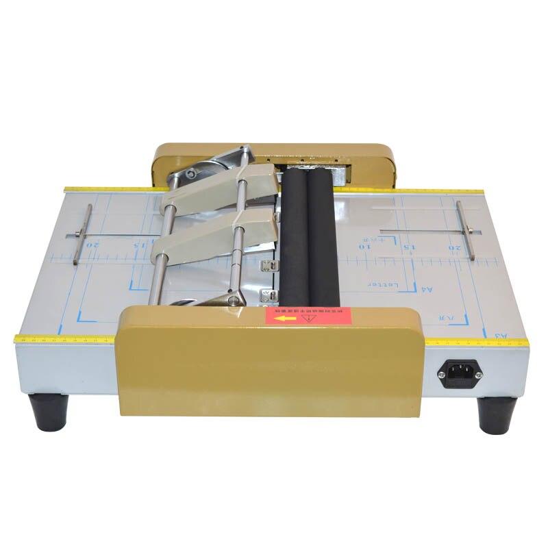 electric folding machine electric paper creasing machine card folding machines color pages dashed machine  220V/110V 1PC|Binding Machine| |  - title=