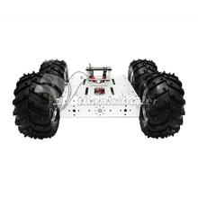 4WD Aluminum Mobile Robot Platform Car Chassis Robot Chassis Robot Vehicles Heavy Duty for Arduino Diy RC Toy