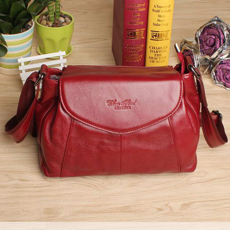2015 New genuine leather women messenger bags with high quality fashion lady shopping travel shoulder bags handbags for woman