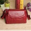 2015 nuevo cuero genuino bolsos del mensajero con alta calidad dama de compras moda viajan bolsas de hombro bolsos para la mujer