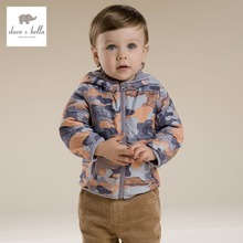 DB2858 dave bella spring baby boys camouflage infant print