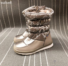 wallvell Export to Russian children snow boots boys and girls snow boots cotton boots plus hair waterproof(China)