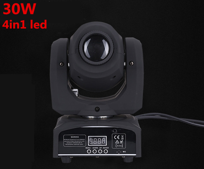 DMX Stage Spot Moving  LED Mini Moving Head Light 30W DMX dj 8 gobos effect stage lights 10w disco dj lighting 10w led spot gobo moving head dmx effect stage light holiday lights