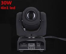 Punto Móvil de la Etapa de DMX LED Mini Luz Principal Móvil 30 W DMX dj 8 gobos efecto etapa luces