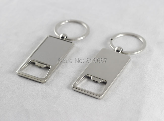 wholesale 100pcs stainless steel bottle opener beer opener keychain personalized logo print. Black Bedroom Furniture Sets. Home Design Ideas