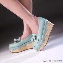 ปั๊มผู้หญิงรองเท้าหนังPUใหม่43 40 41ส้นสูง8เซนติเมตรเวดจ์รองเท้าผู้หญิงกับรองเท้าส้นขนาดEUR 34-44กรัม