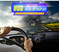 DOITOP Car Stand Holder For Smart Phone E350 ABS Car HUD Head Up Display OBD2 and EUOBD hud projector Interface windshield film