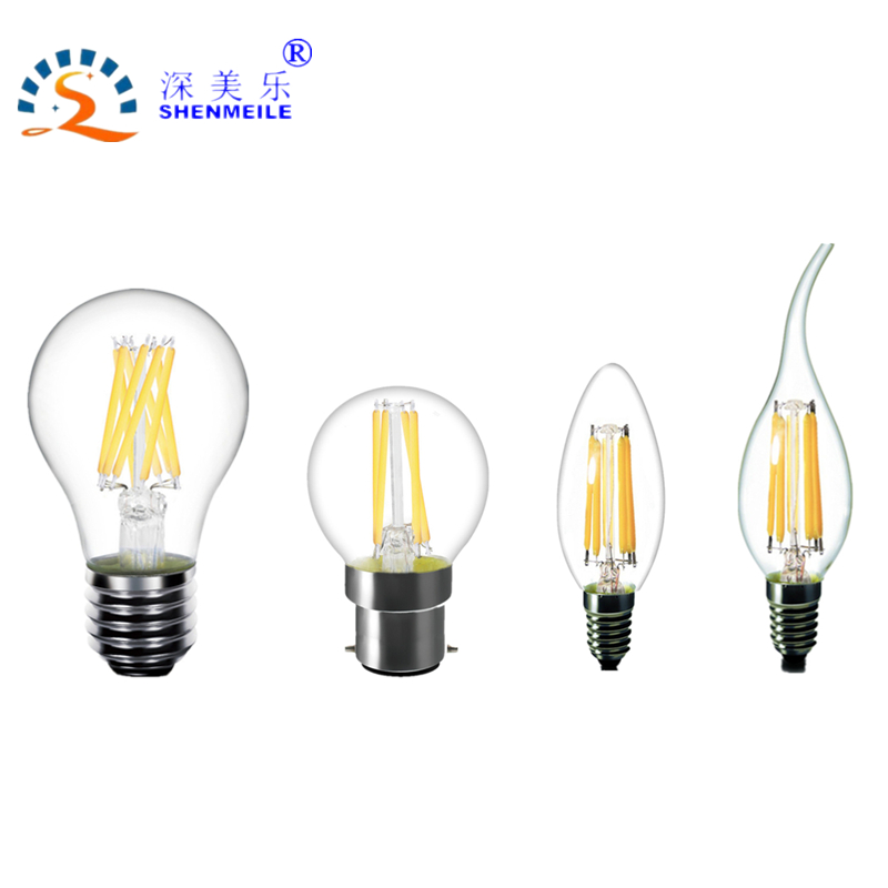 RXR Clear LED Filament Bulb E14 E12 B22 E27 E26 A60 A19 G45 G14 C35 B10 220V 230V 110V Warm White Edison retro LED light Lamp high brightness 1pcs led edison bulb indoor led light clear glass ac220 230v e27 2w 4w 6w 8w led filament bulb white warm white