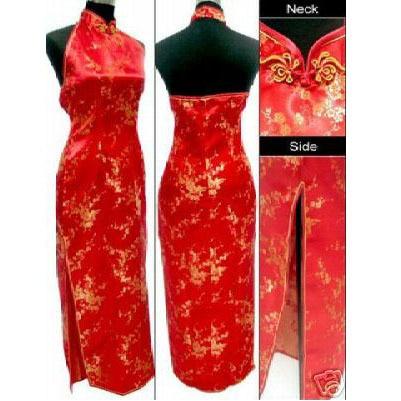 Hottest Red Chinese Bridal Wedding Dress Silk Rayon Cheongsam Top Classic Backless Qipao Size S M L XL XXL XXXL WC090