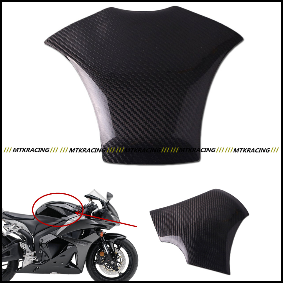 Free shipping Carbon Fiber Fuel Gas Tank Protector Pad Shield For Honda CBR600RR 2007-2012 black color motorcycle accessories carbon fiber fuel gas tank protector pad shield rear carbon fiber for kawasaki z1000 03 06