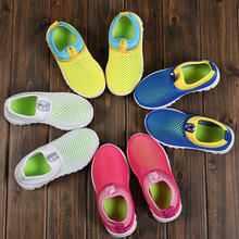 Spring Autumn Kids Shoes 2019 Fashion Mesh Casual Children Sneakers For Boy Girl Toddler Baby Breathable Sport Shoe  Solid kids sneakers girl baby boys 2019 spring autumn pink sport shoes toddler girl cute air mesh children running shoe for boys kids
