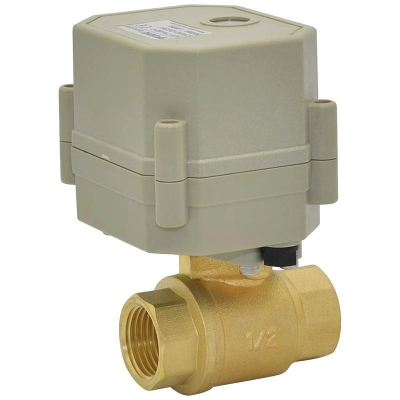 Free Shipping BSP 1/2'' DC5V 2/3/5 Wires 2-Way DN15 Motorized Ball Valve With Indicator and Signal Feedback TF15-B2-C 2 5
