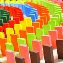 120 PCS Kids Colorful Tumbling Domino Building Blocks Pine Wooden Domino Toys Educational Intelligence Domino Bricks Blocks Toys(China)