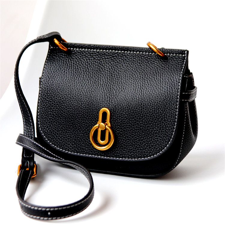 New Arrival Genuine Leather Fashion Women's Messenger Bag Leisure Simple Shoulder Bag Small Saddle Bag