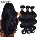 3PCS Jet Black Brazilian Body Wave Hair Extensions 7A Jet Black Virgin Hair Bundles deals Tissage Bresilienne Human Hair Weave