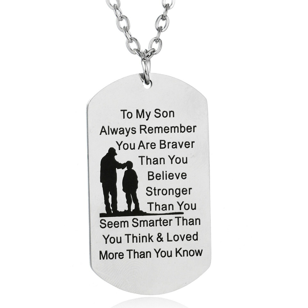 To My Son Daughter Necklace Gift For Mother Father Teacher Pendants Chain Family