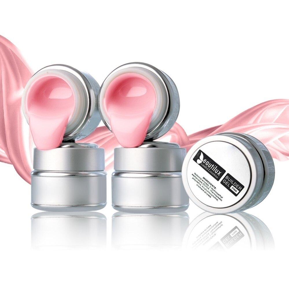 1 pc Beautilux UV LED Soak Off Unhas de Gel Construtor Rosa Camuflagem Duro UV Gel Polonês Da Arte Do Prego Decoração de Extensão gel 50g