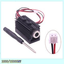 Módulo láser de cabezal láser ultravioleta 1000 MW 1500 MW 405nm para máquina de grabado láser cnc