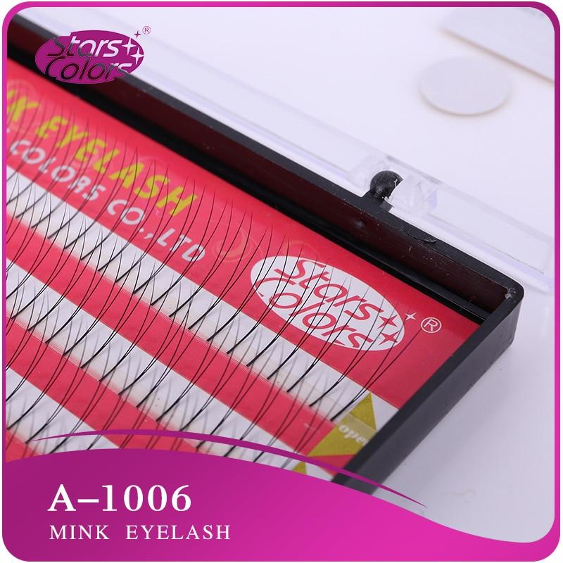 Faux Mink High Quality V-shape Planted 2D Eyelash Handmade False bulbs Extension Imitation palsu mink 4 lines Cilia Tools