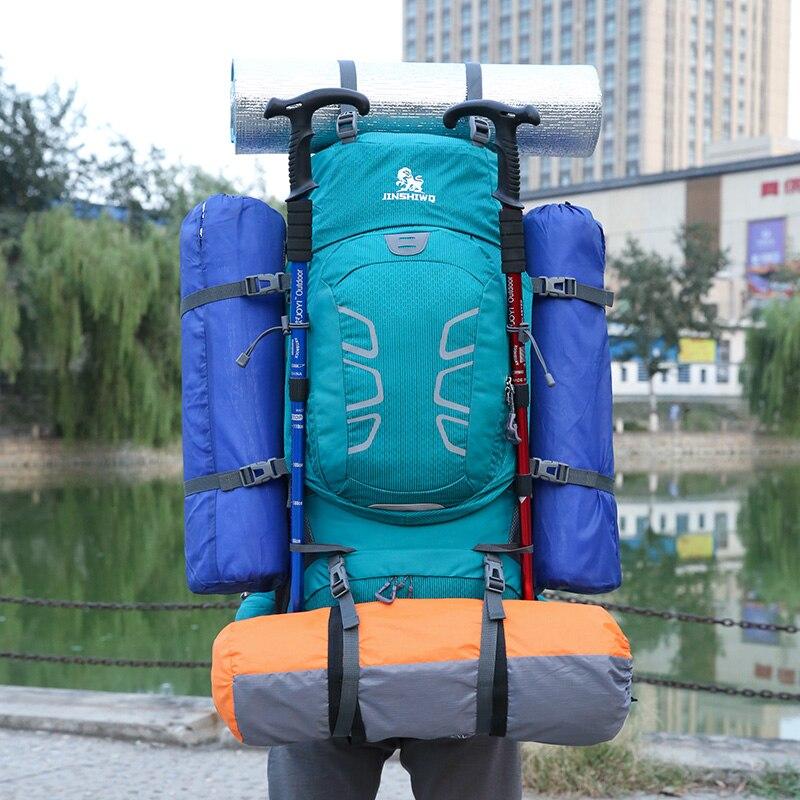 60L escalada impermeable senderismo mochila al aire libre de las mujeres y los hombres bolso Camping montañismo mochila bicicleta deporte bolsas de viaje - 6
