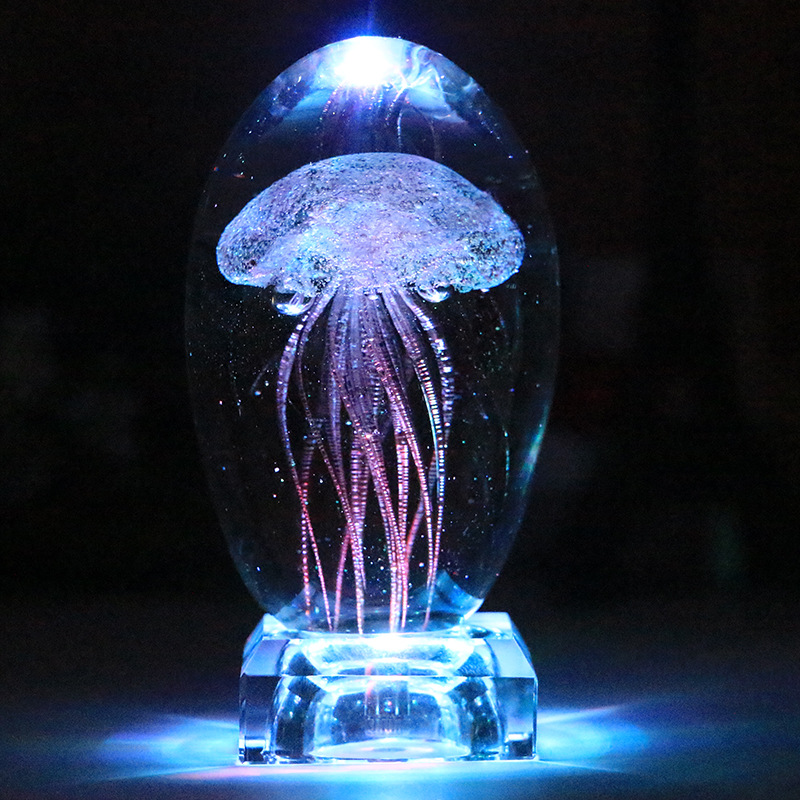 Romantyczna meduza nowość lampka nocna ślubna lampa dekoracyjna kolorowa obrotowa bezprzewodowa muzyka bluetooth Box urodziny prezenty w Błyszczące oświetlenie od Lampy i oświetlenie na