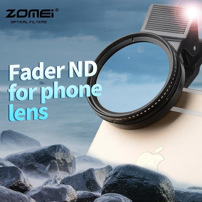 ZOMEI Pro Slim Adjustable ND2-400 multilayer coating fader nd filter for phone lens