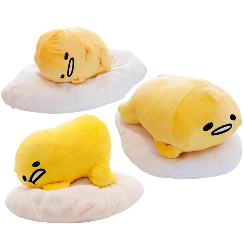 40*30cm Gudetama Lazy Egg Egg jun Egg Yolk Brother Large Doll Pillow Lazy Balls Stuffed Plush Toy For Children Friend Gift candice guo plush toy stuffed doll cartoon gudetama lazy egg yolk car seat neck protect pillow cushion vehicle headrest 1pair