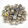 De alta calidad del corazón de Jesús católica rosario estilo clásico