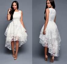 b4c22822a6395 Short Front Long Back White Dresses Promotion-Shop for Promotional ...