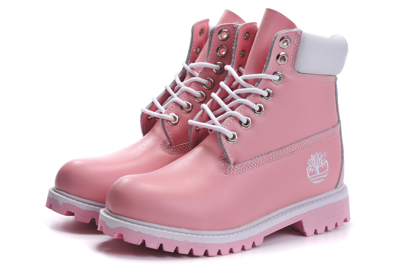 TIMBERLAND Women Classic 10061 Light Pink Spring/Autumn Martin Boots,Woman Popular High Top Solid Color Leather Ankle Shoes  2