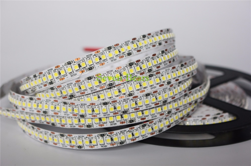 1/2/3/4/5M/lot LED Strip 3528 240 LEDs/meter DC12V High Brightness 3528 Flexible LED Light светодиодная лента world uniqueen 10pcs lot dhl ems dc12v 5m 240leds 96w smd3528 wu dc 3528 240 nw