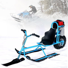 Sports Entertainment - Skiing  - Electric Skiing Vehicle Single Board Fuel Snowmobile Directional Snow Sledge Skiing Boards For Children Skiing Equipments Safety