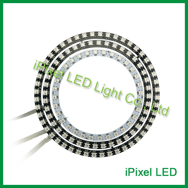 WS2812B led neon Pixel Ring RGB SMD5050 <font><b>12</b></font> Bit-rgb LED Ring Round shape supported image